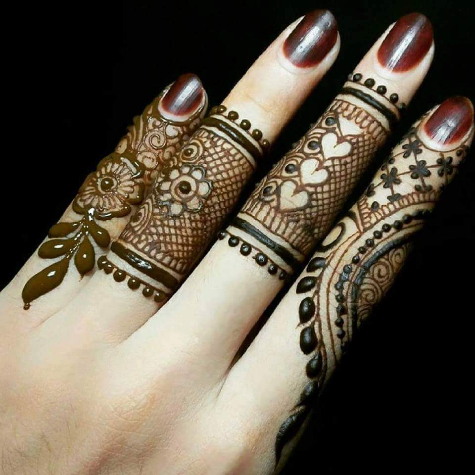 Mehndi Design With Fingers : Best henna fingers mehndi designs