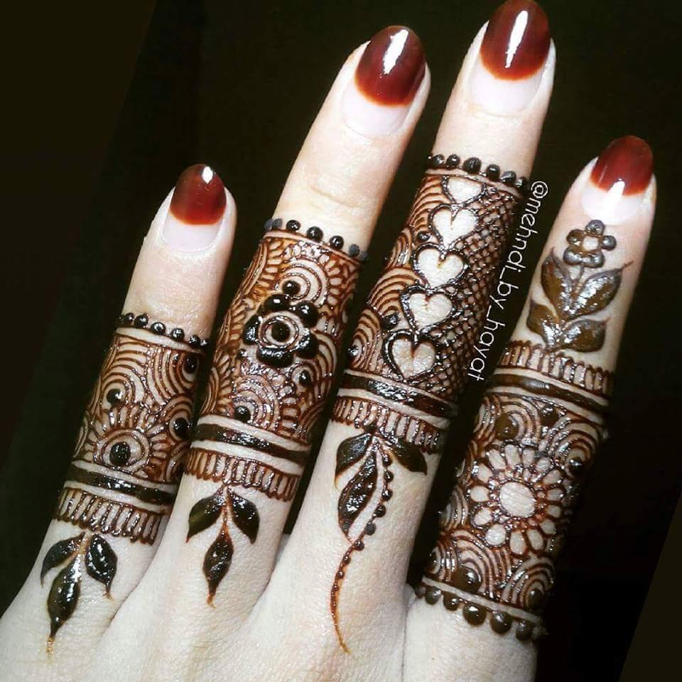 Mehndi Hand Patterns Ks : Best henna fingers mehndi designs