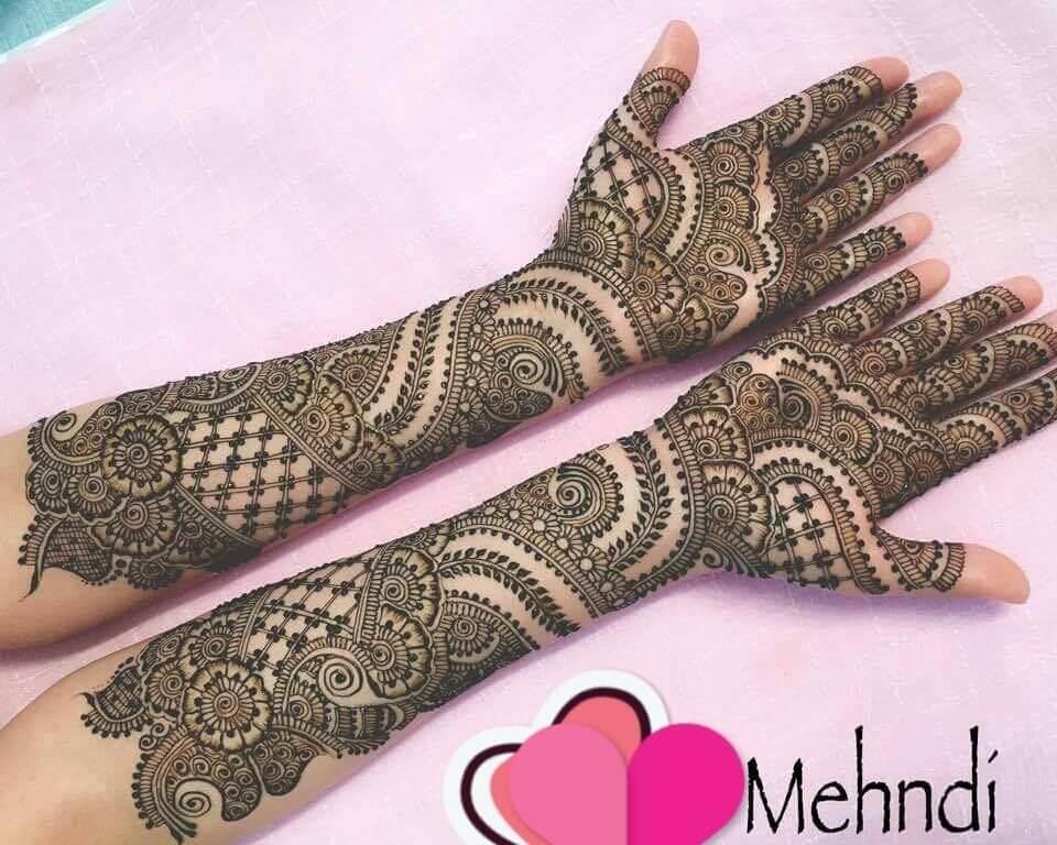 Mehndi For Full Hand : Stylish full hand bridal mehndi designs
