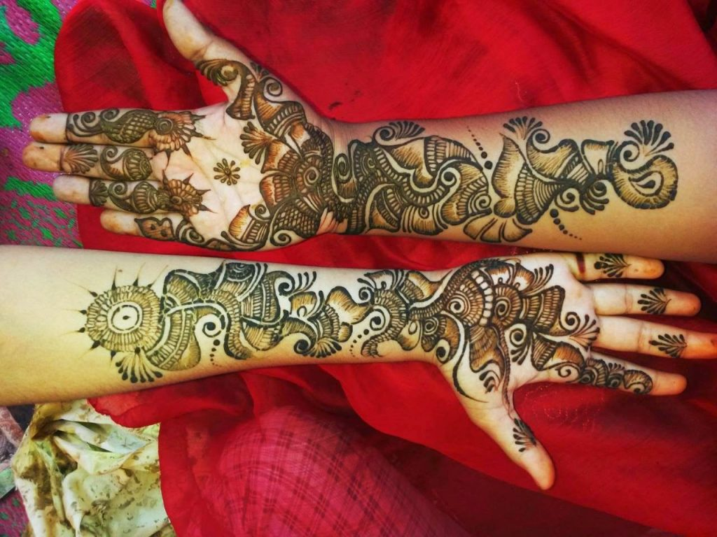 New Bridal Mehndi Designs For Full Hands