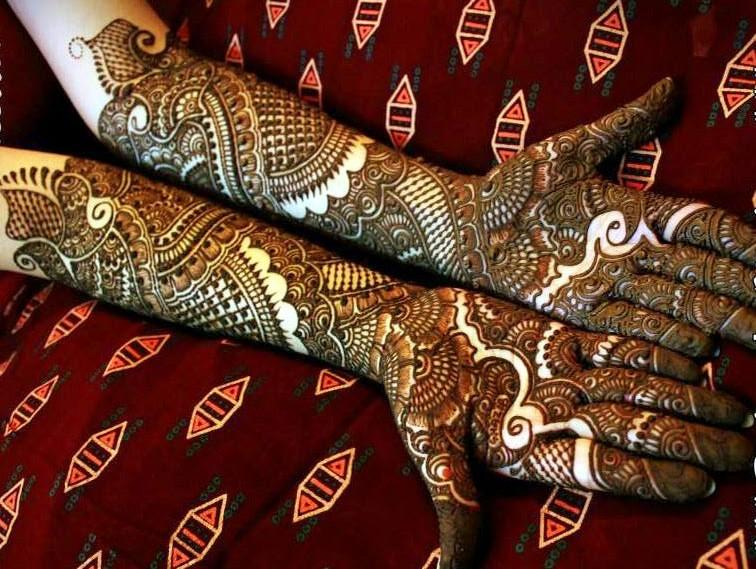 Bridal Mehndi New Latest Design : Stylish full hand bridal mehndi designs