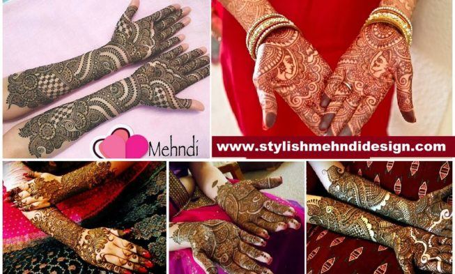 Mehndi Bridal Mehndi Design : Stylish full hand bridal mehndi designs