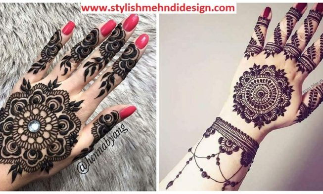 Mehndi Circle Design Photos : Traditional and simple round mehndi designs you should definitely