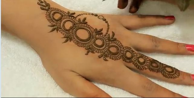 Simple Easy Basic Circular Mehendi Design For Hands Mehndi Designs