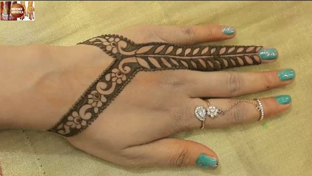 easy jewelry mehndi designs for hands step by step