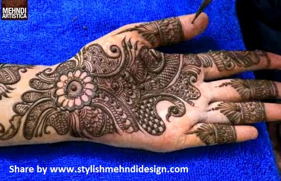 Mehndi Design 2017 Latest Images : Latest full hand mehndi design for step by designs