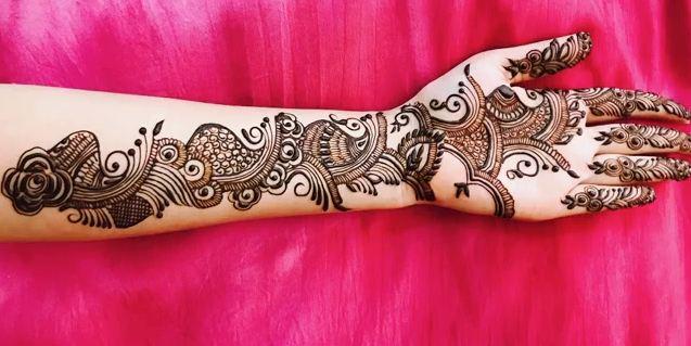 Full Hand Teej Mehndi Design For Dulhan Latest Easy Henna Mehndi