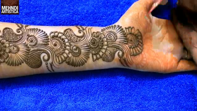 Mehndi Designs Learning Hands : Learn easiest henna mehndi design step by for hand designs