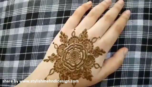 Henna Design Flower Simple Flowers Healthy