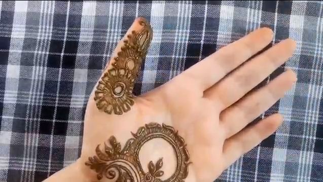 Quick And Simple Front Side Henna Mehndi Design For Hands Mehndi