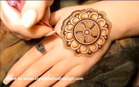 Mehndi Mandala Designs : Simple mandala henna design with leaves by ckg youtube