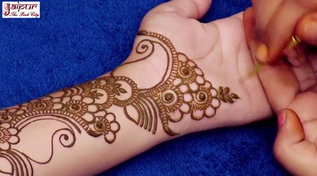 Mehndi Simple Arabic Designs For Hands : Simple arabic mehndi design for hands step by tutorial