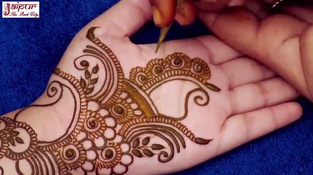 Mehndi Designs For Hands Simple : Simple arabic mehndi design for hands artsycraftsydad