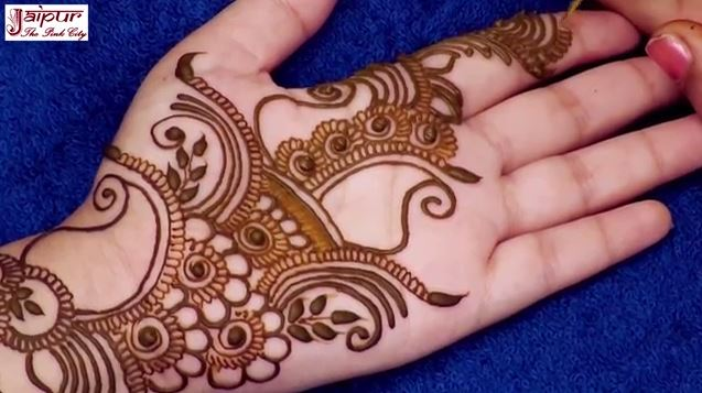 Arabic Mehndi Designs For Hand : Simple arabic mehndi design for hands step by tutorial