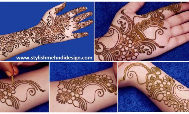 Simple Arabic Mehndi Design For Hands , Step by Step