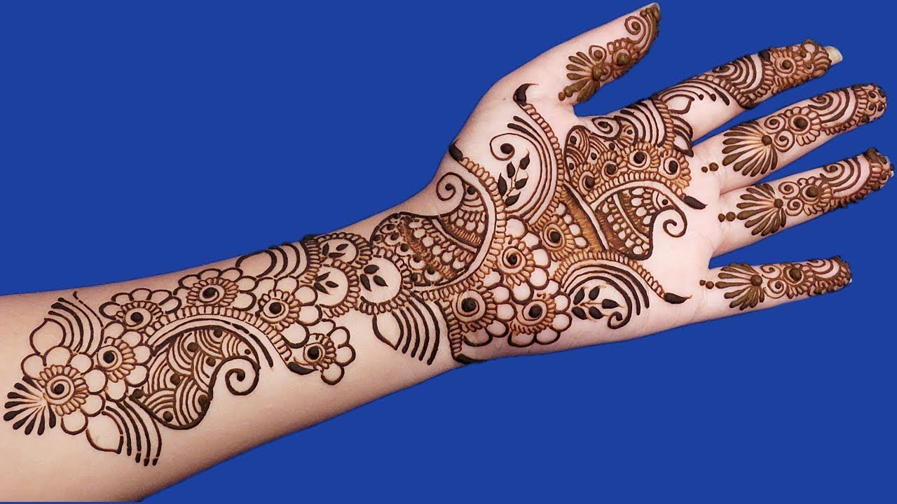 simple arabic mehndi design for hands step by step