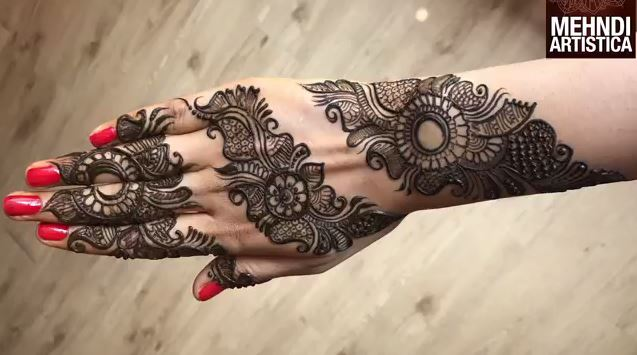 Mehndi Hand Patterns Diwali : Attractive henna mehndi design for hand step by