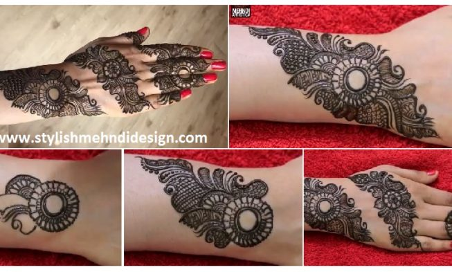 Mehndi Designs For Fingers Step By Step : Attractive henna mehndi design for hand step by designs
