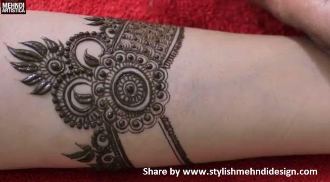 Beautiful Mehndi Design Tutorial : Beautiful kada mehndi design for hand step by