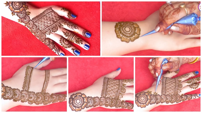gorgeous floral mehndi designs for back hand   mehndi designs