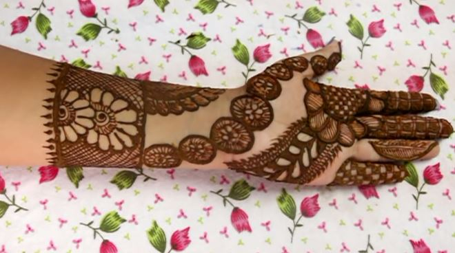 Latest Henna Mehndi Design For Hand Step By Step Tutorial