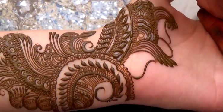 Mehndi Step By Step Designs : Latest mehndi design for hand step by artsycraftsydad