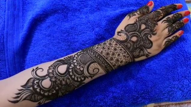 Haathphool Mehendi Designs For Hands Step By Step ... Arabic Henna Designs On Paper