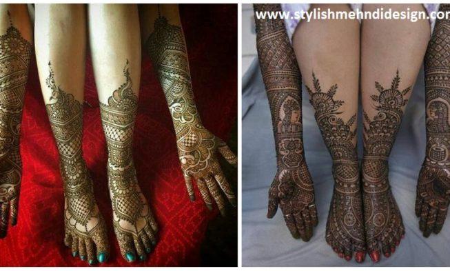 Bridal Leg Mehndi Images : Beautiful bridal mehendi designs for your wedding day mehndi