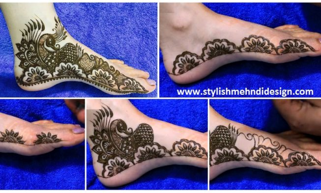 Mehndi On Leg : Half mandala leg mehndi design step by tutorial