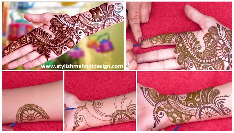 Easy Arabic Mehndi Designs Step By Step Tutorial Mehndi Designs
