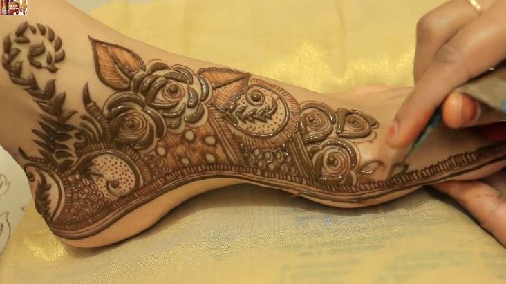 Mehndi Leg Easy Designs : Best ultimate dulhan mehndi design for legs bridal wear