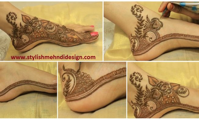 Mehndi Hands Designs : Basic magical leafs pattern henna mehndi mehendi designs with gulf