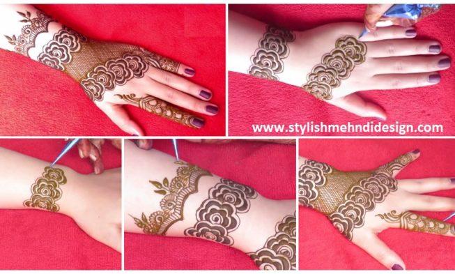Latest Gulf Style Henna Mehndi Designs For Back Hand Mehndi Designs