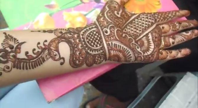 simple easy bridal henna mehndi full hand 2018