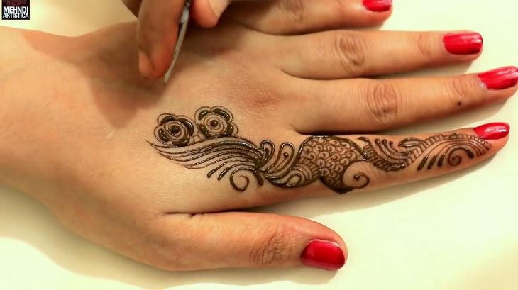 Mehndi Real Tattoo : Learn quick mehndi design tattoo for hands designs