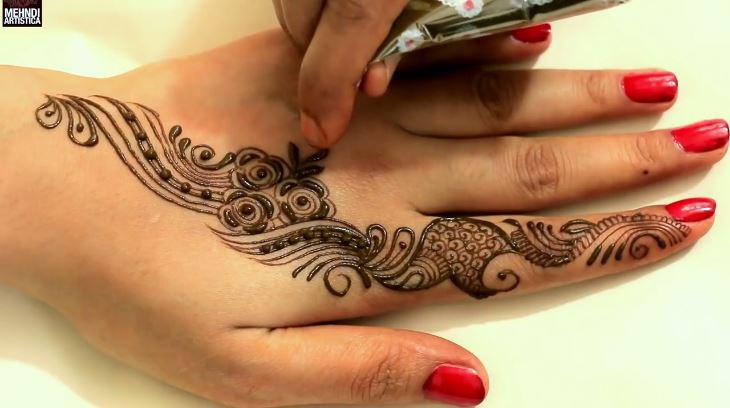 Learn quick mehndi design tattoo for hands mehndi designs for Learn to do tattoos