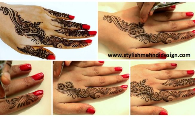Mehndi Designs Learning Hands : Learn quick mehndi design tattoo for hands designs