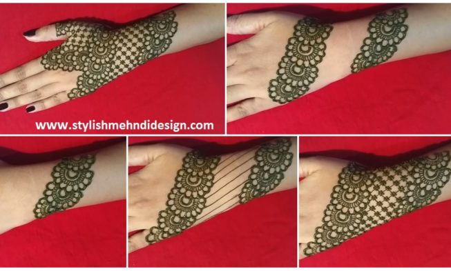 Mehandi Design Simple In Back: Simple back hand net gloves mehndi design - Mehndi Designsrh:stylishmehndidesign.com,Design