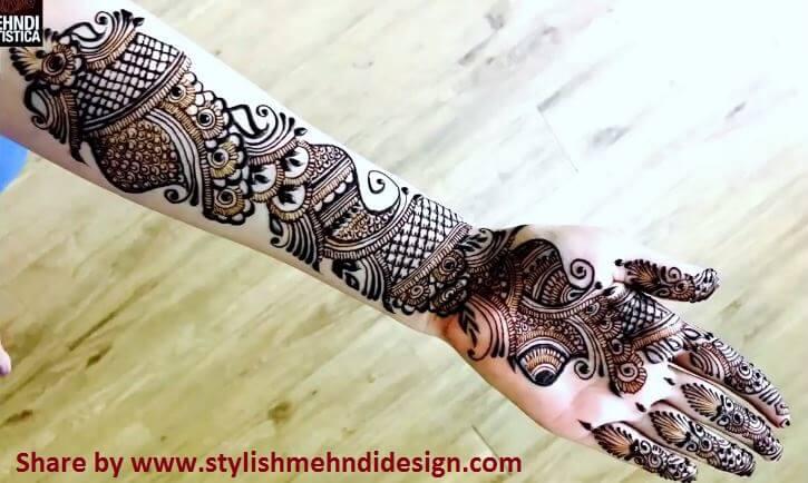 Learn Full Hand Arabic Mehndi Design , Step By Step
