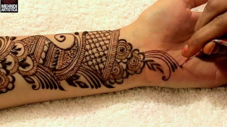 learn full hand arabic mehandi design   step by step