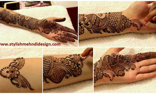 Learn Full Hand Arabic Mehndi Design - Step By Step (Tutorial
